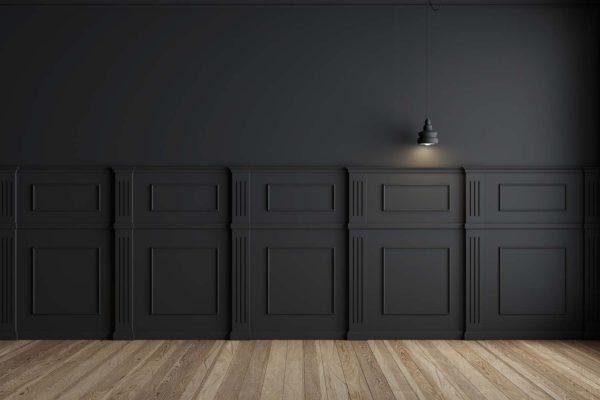 สีโทนดำ สำหรับห้องประชุม อลูมิเนียมคอมโพสิต