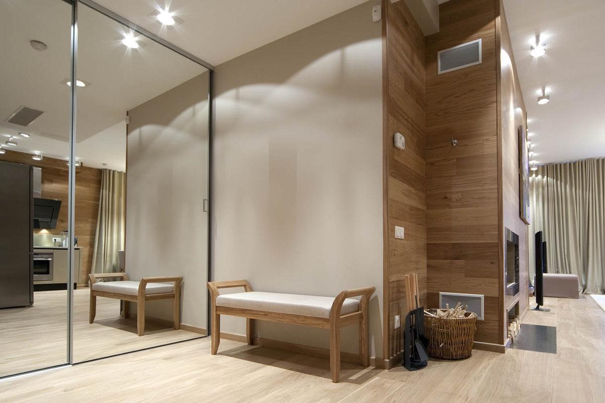 อลูมิเนียมคอมโพสิตลายไม้ ตกแต่งในห้องนอน ห้องแต่งตัว