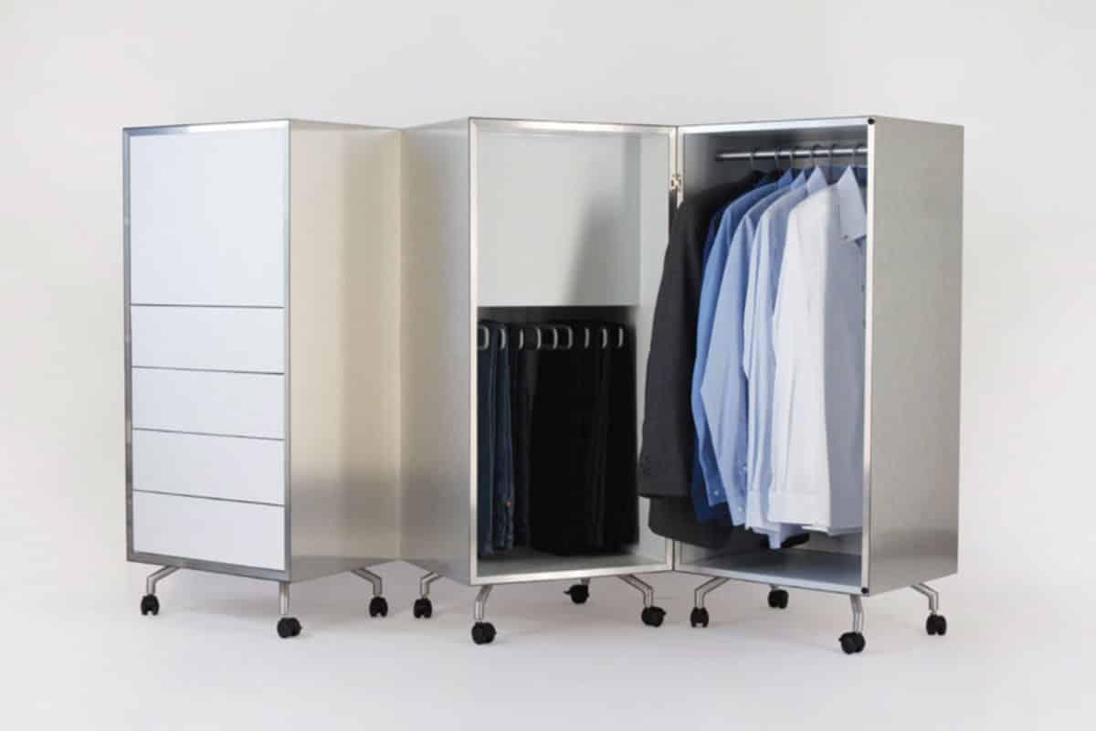 การใช้อลูมิเนียมคอมโพสิตฉลุลาย ทำตู้เสื้อผ้า